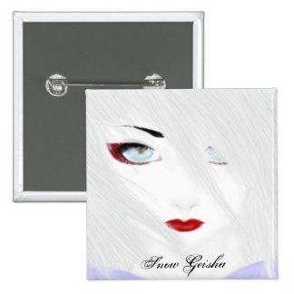 The Snow Geisha 2 Inch Square Button
