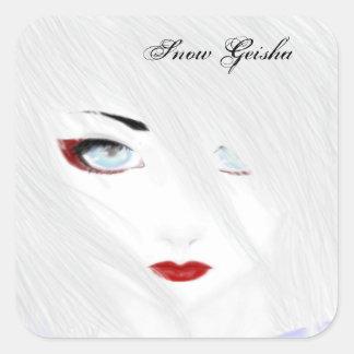 The Snow Geisha Square Sticker