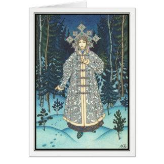 The Snow Maiden by Boris Zvorykin Card