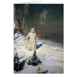 The Snow Maiden Fantasy Art Card