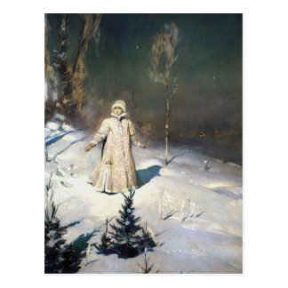 The Snow Maiden Fantasy Art Postcard