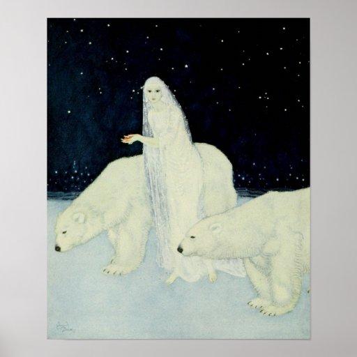 The Snow Maiden Gathering Broken Hearts Print