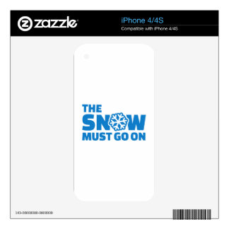 The snow must go on iPhone 4 skin