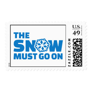 The snow must go on stamp