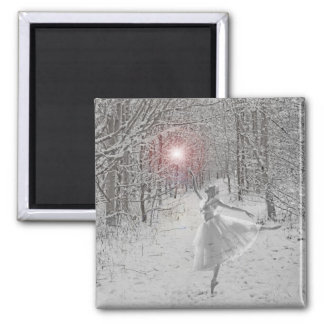 The Snow Queen 2 Inch Square Magnet