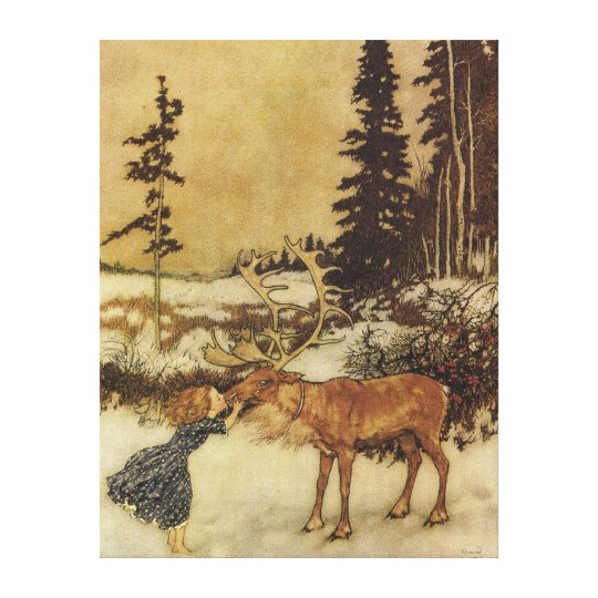 The Snow Queen Edmund Dulac Fine Art Canvas Print