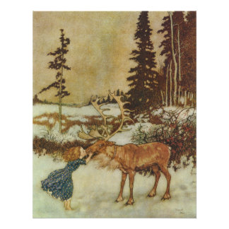 The Snow Queen Edmund Dulac Fine Art Poster