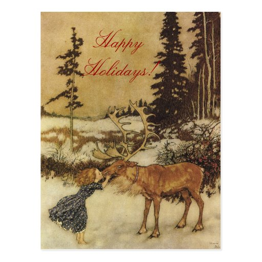 The Snow Queen Fairy Tale with Gerda Postcard
