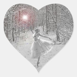 The Snow Queen Heart Sticker