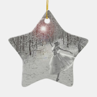 The Snow Queen Double-Sided Star Ceramic Christmas Ornament
