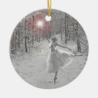 The Snow Queen Double-Sided Ceramic Round Christmas Ornament