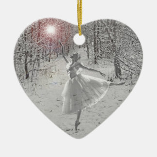 The Snow Queen Ceramic Heart Decoration