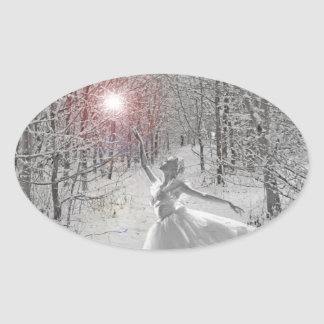 The Snow Queen Oval Sticker