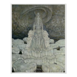 The Snow Queen Poster by Edmund Dulac