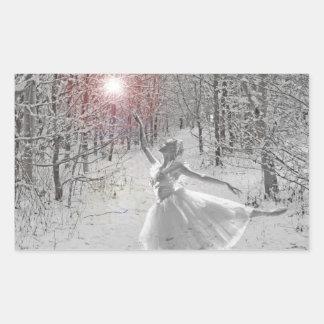 The Snow Queen Rectangular Sticker
