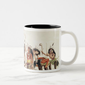 The Snow-Shoe Dance Two-Tone Coffee Mug