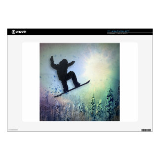 The Snowboarder: Air Laptop Decal
