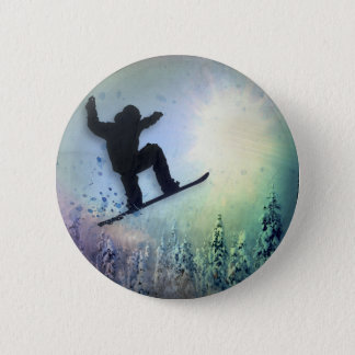 The Snowboarder: Air Pinback Button