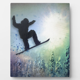 The Snowboarder: Air Plaque