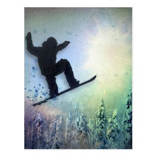 The Snowboarder: Air Postcard