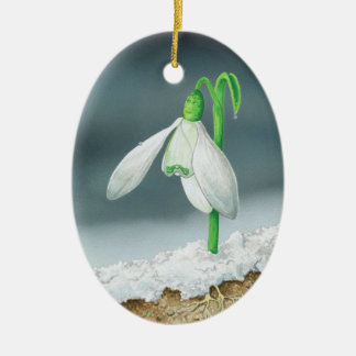 The Snowdrop Ceramic Ornament