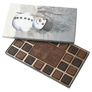 The Snowman  Candy box Custom  45 Piece Assortment 45 Piece Assorted Chocolate Box