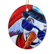 The Snowman Ceramic Ornament