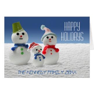 The Snowman Family Card