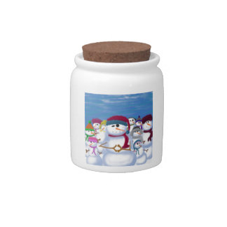 The Snowman & His Posse ~ Candy Dish