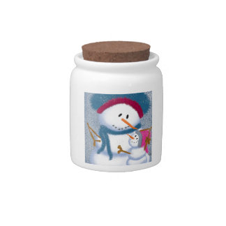 The SnowMomma And SnowGirl~ Candy Jar