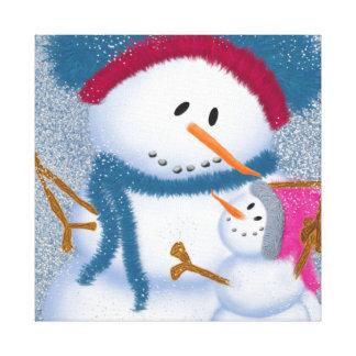 The SnowMomma & SnowGirl Canvas Print