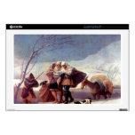 "The snowstorm by Francisco de Goya 17"" Laptop Skin"