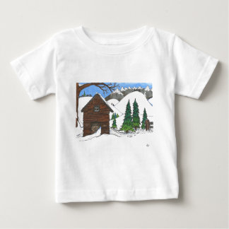 The Snowy Cabin Baby T-Shirt