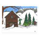 The Snowy Cabin Post Cards