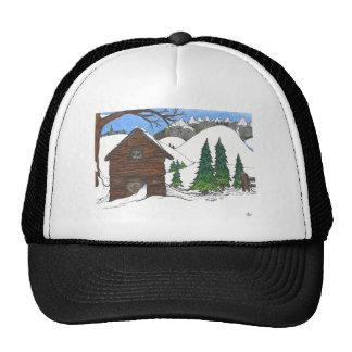 The Snowy Cabin Trucker Hat
