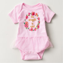 The Snuggle Is Real Funny Baby Tutu Bodysuit