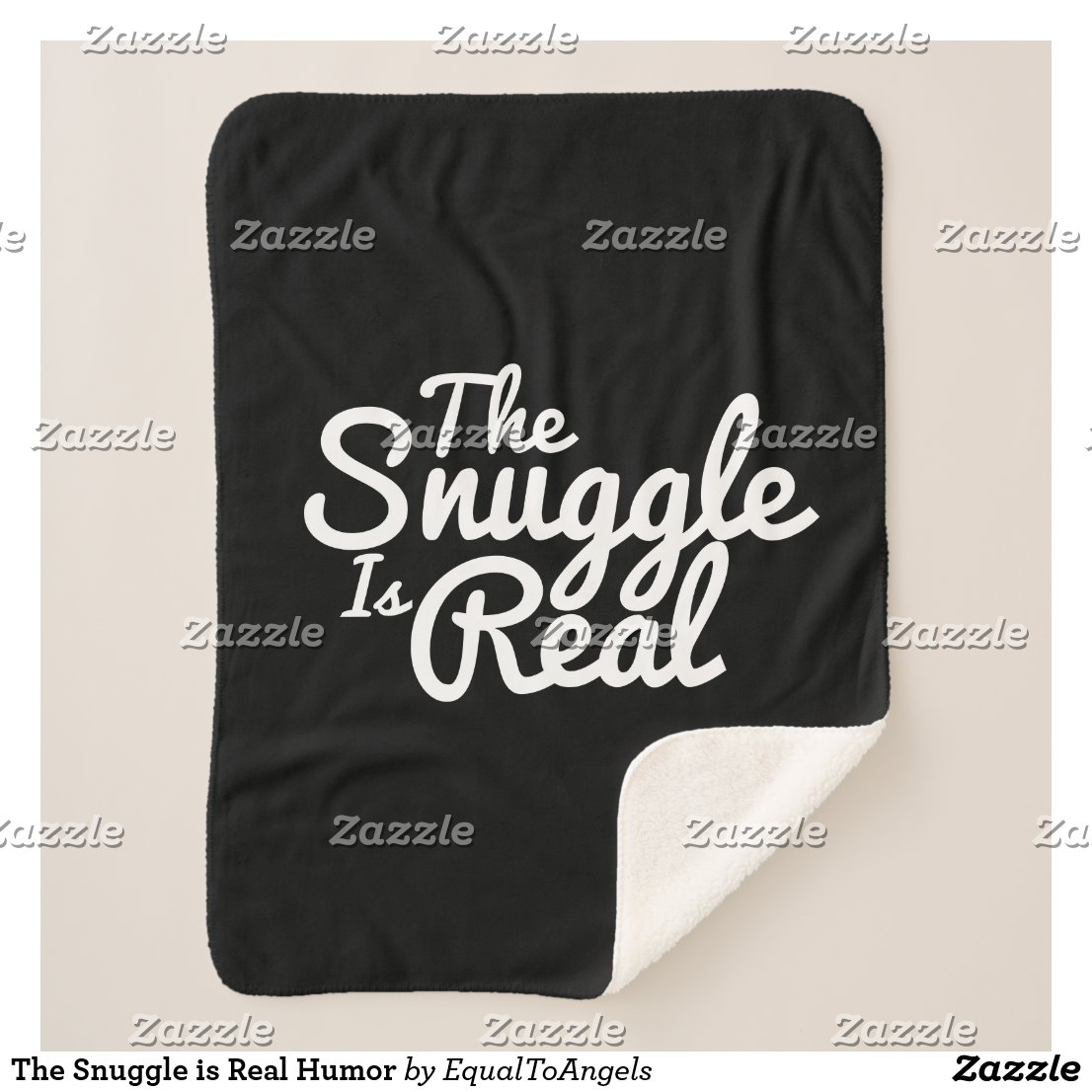 The Snuggle is Real Humor Sherpa Blanket
