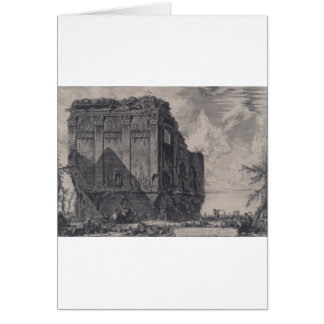 The So called Temple of Salus, on the Road Card
