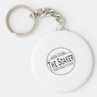 The Soaker Basic Round Button Keychain