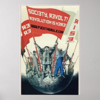 The Social Shakedown Show Society Revolt Poster