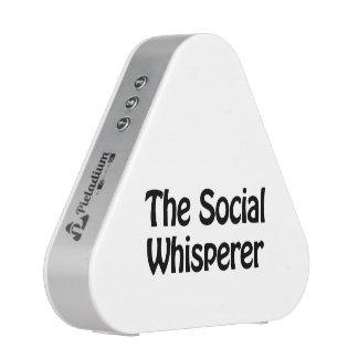 the social whisperer bluetooth speaker
