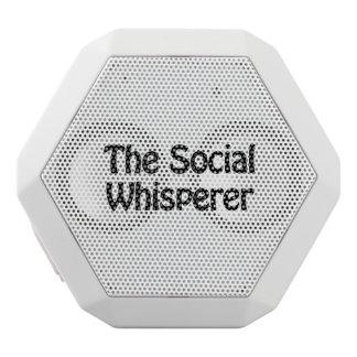 the social whisperer white boombot rex bluetooth speaker