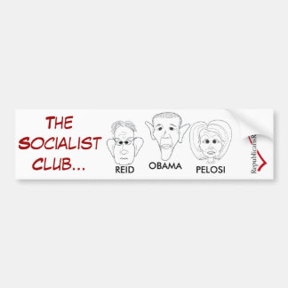 THE SOCIALIST CLUB BUMPER STICKER