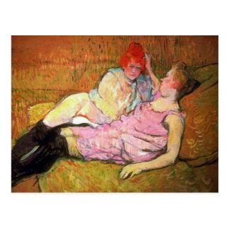 The Sofa by Toulouse-Lautrec Postcard