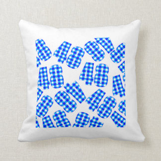 The sofa cushion of the gingham check of 1x1