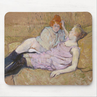 The Sofa - Henri de Toulouse-Lautrec Mouse Pad