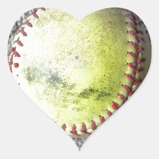 The Softball Heart Sticker