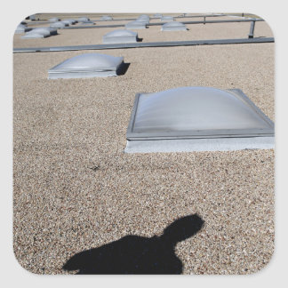 The solar day lighting system square sticker