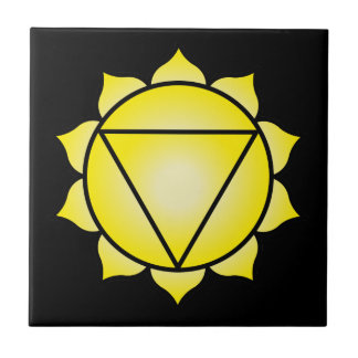 The Solar Plexus Chakra Ceramic Tile