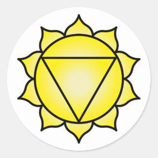 The Solar Plexus Chakra Classic Round Sticker